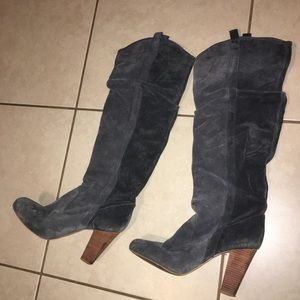 Shoes - Zara Carbon grey knee high boots